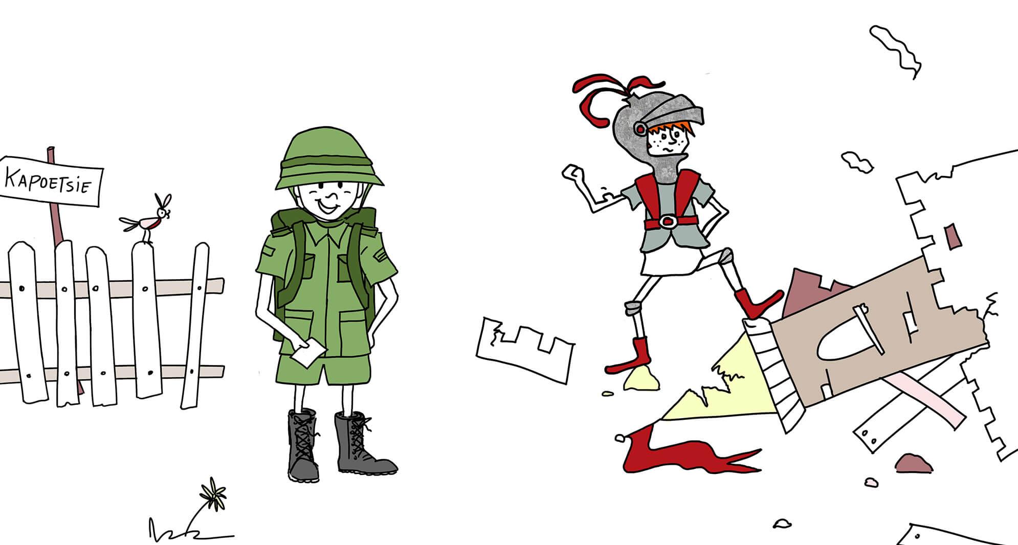 Illustraties versterken je merk, Defensie