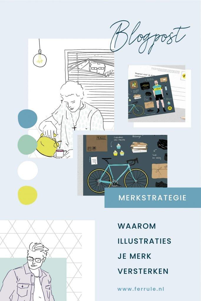 Bedrijf huisstijl, huisstijl inspiratie, ontwikkelen identiteit, illustraties merk, zichtbaarheid branding