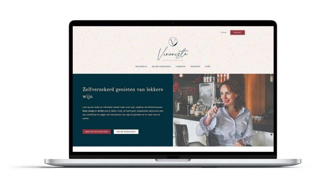 Vinonista online wijncursus, merkstrategie